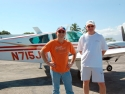 Myself (l) And Tim Ormsby (r) Just After Landing At Les Cayes In Tim's Baron. Tim Is The President Of A Trucking Company In Fort Wayne, In And Volunteered To Stay For Over A Week Of Aid Flights.