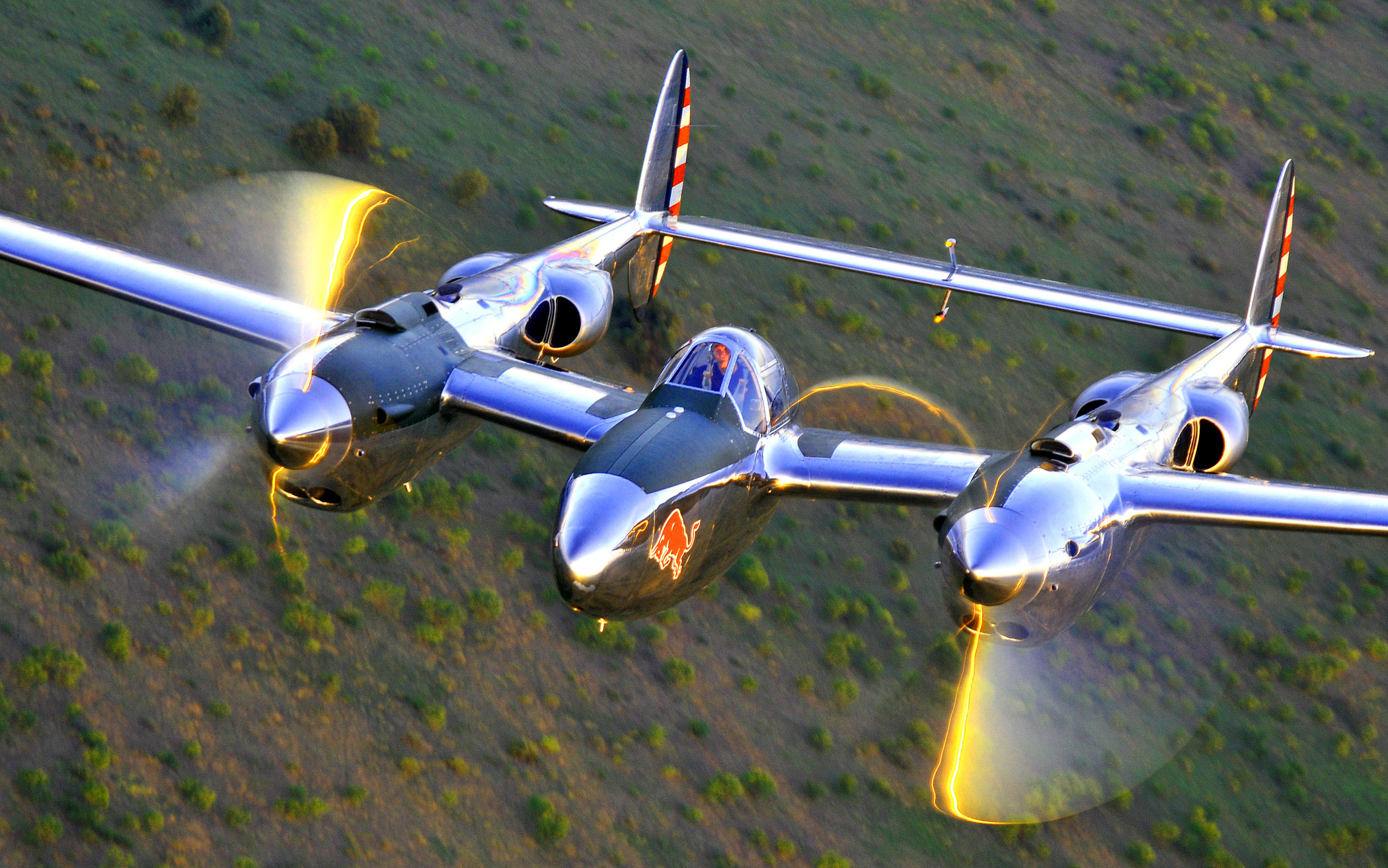 red bull p 38 plane pilot magazine