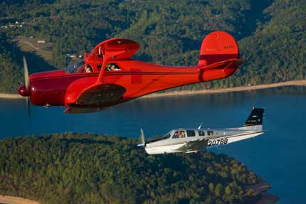 Staggerwing and Bonanza