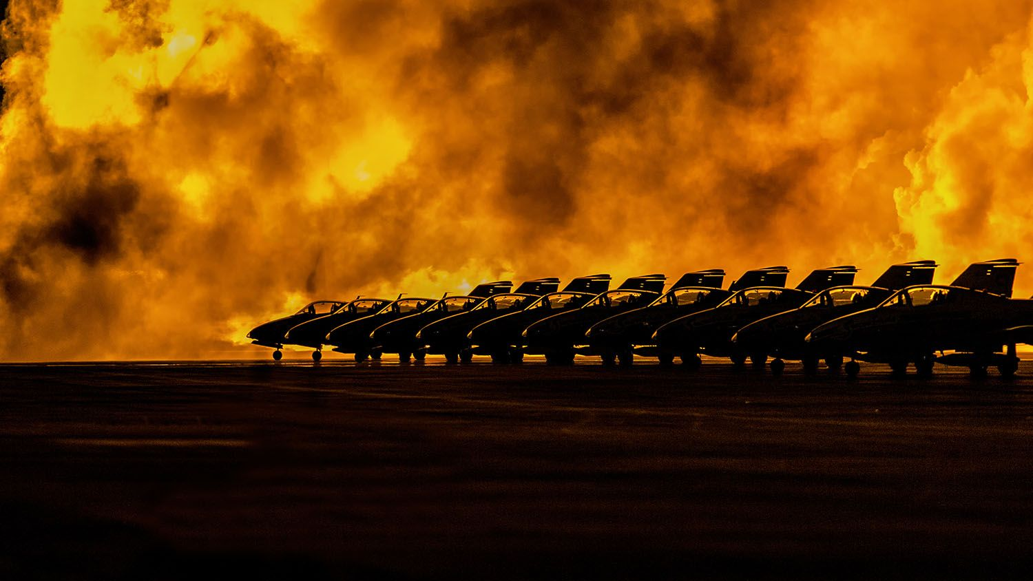 Nighttime At The Airshow by Wayne Domkowski