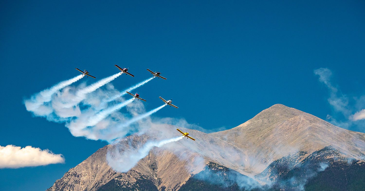 Salida Airshow Mountain Fly-by by Bill Lunsford