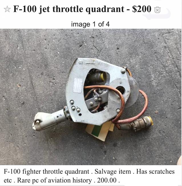 5. F-100 Throttle Quadrant