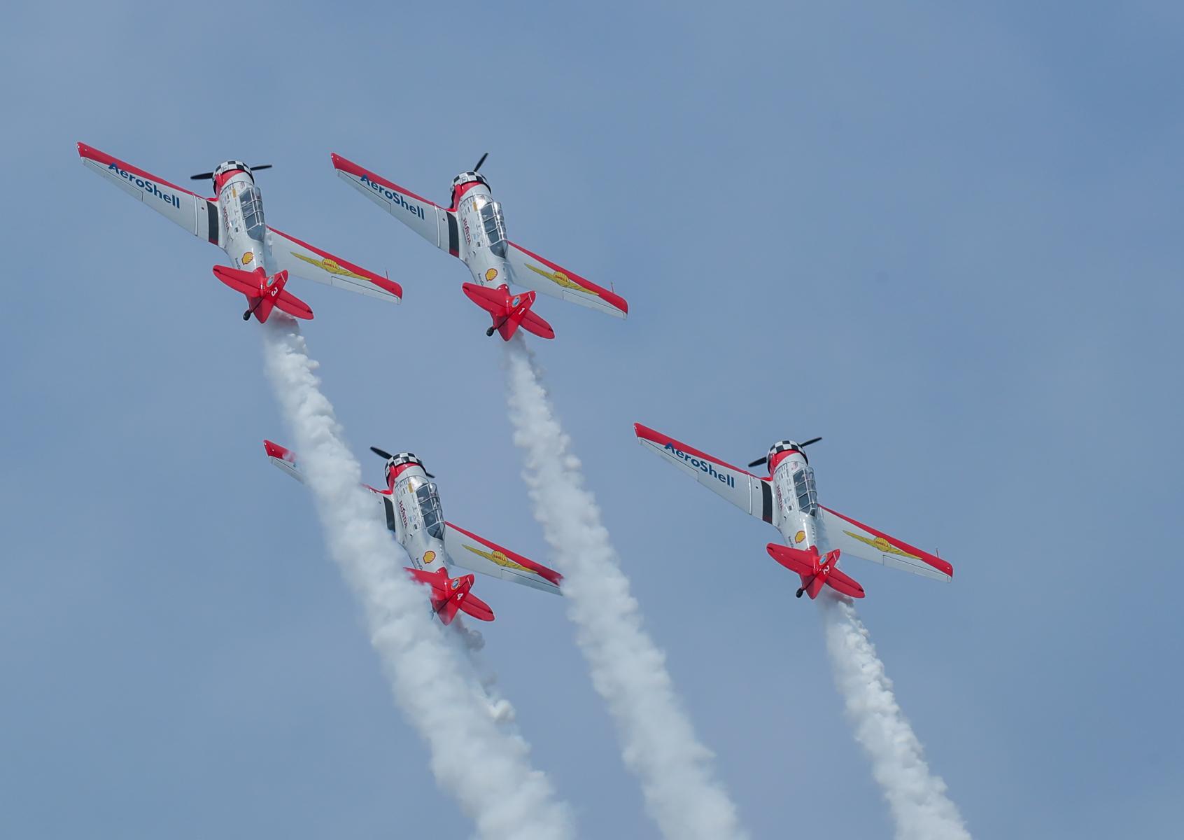 AeroShell Texans by Art Eichmann