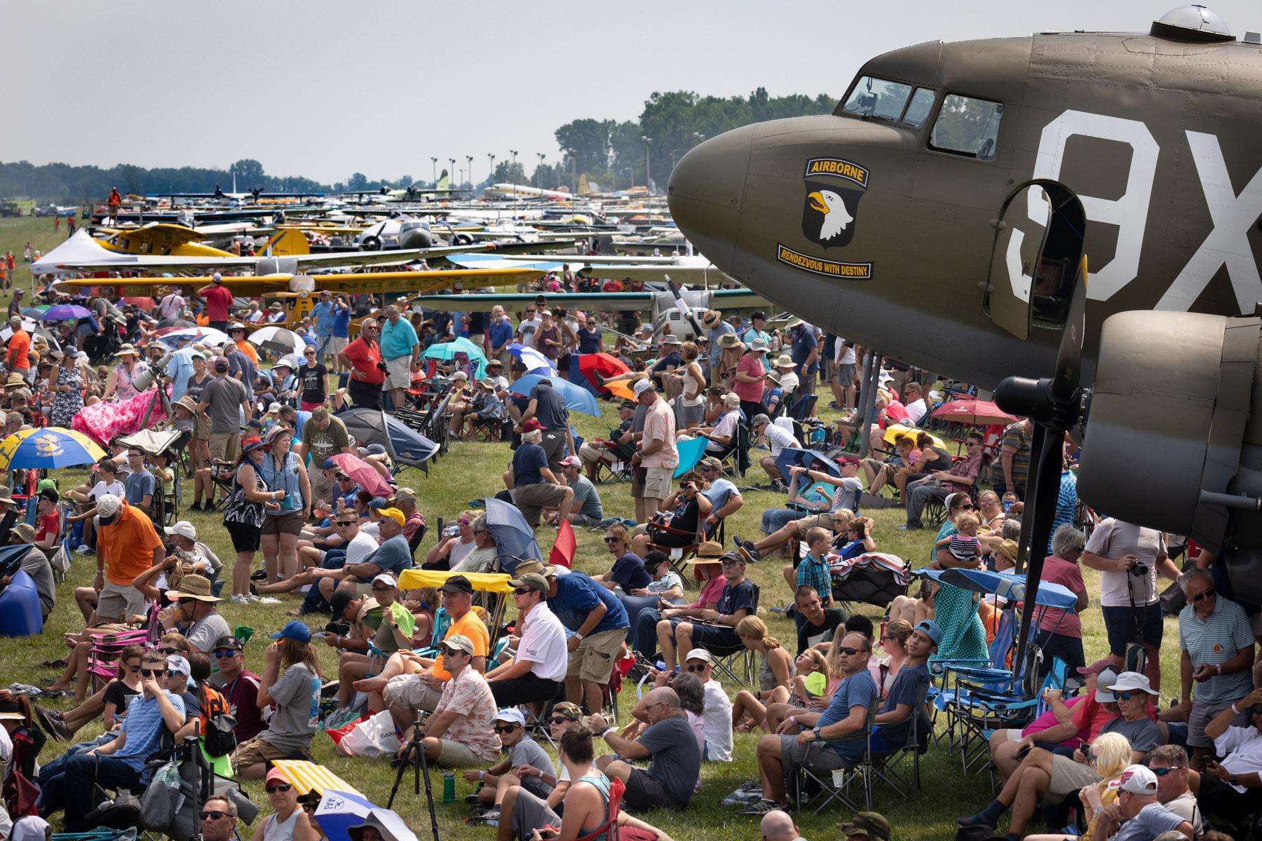 Air show Crowd by Jim Koepnick