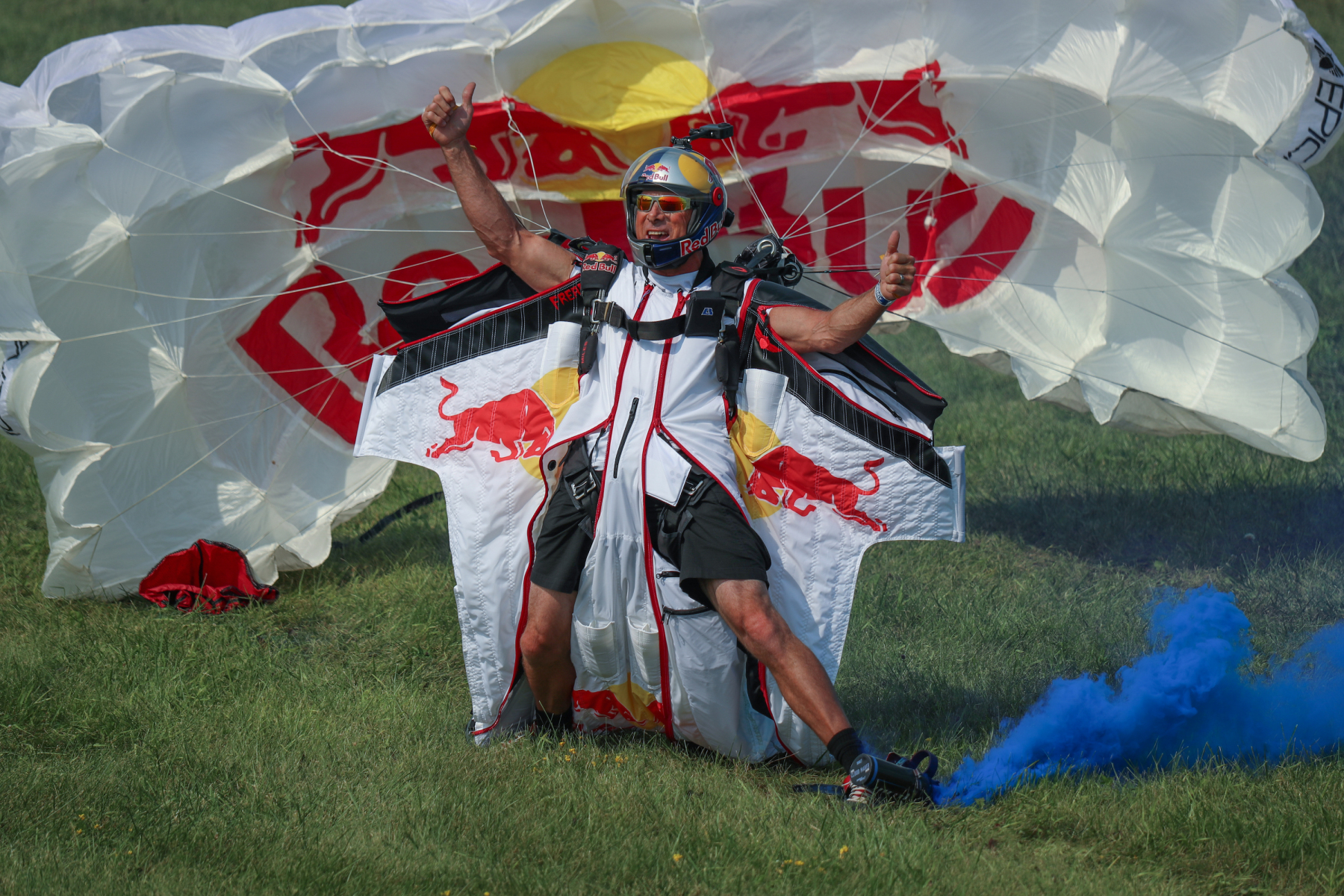 Red Bull Air Force Skydiver by Art Eichmann