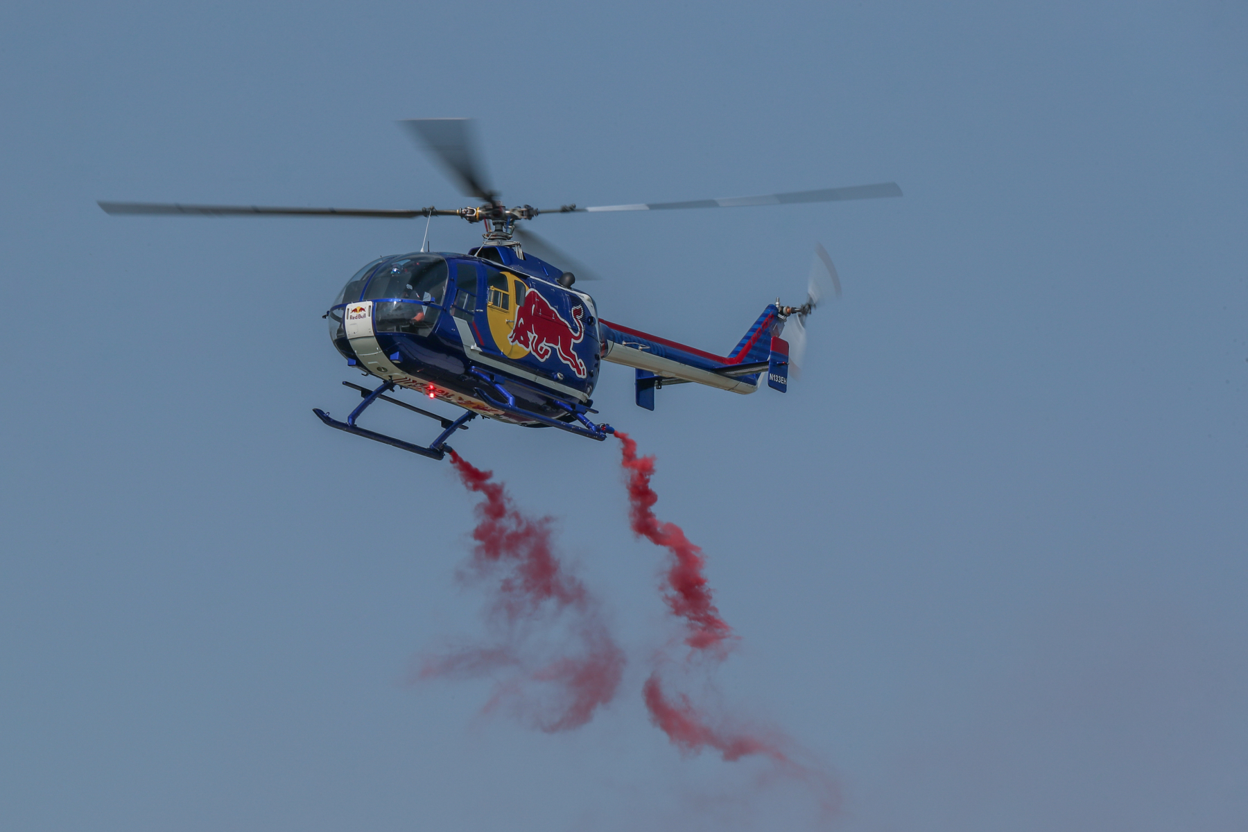 Red Bull BO-105 Helicopter by Art Eichmann