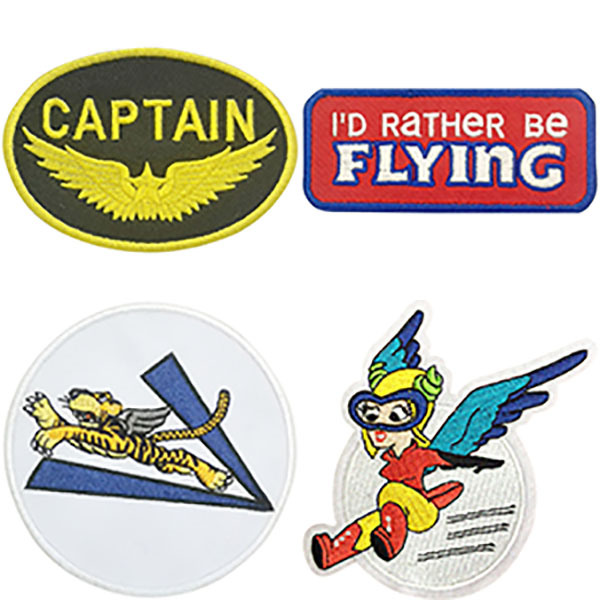 Embroidered Patches From Aeroplane Apparel Co.