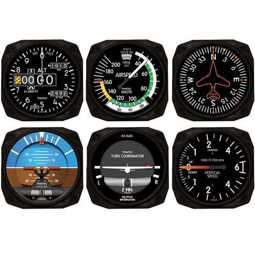 Trintec Aviation Instrument Coasters