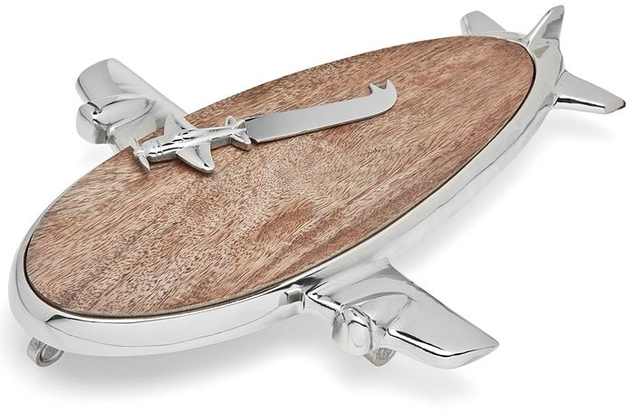 Airplane Wooden Cheese Cutter