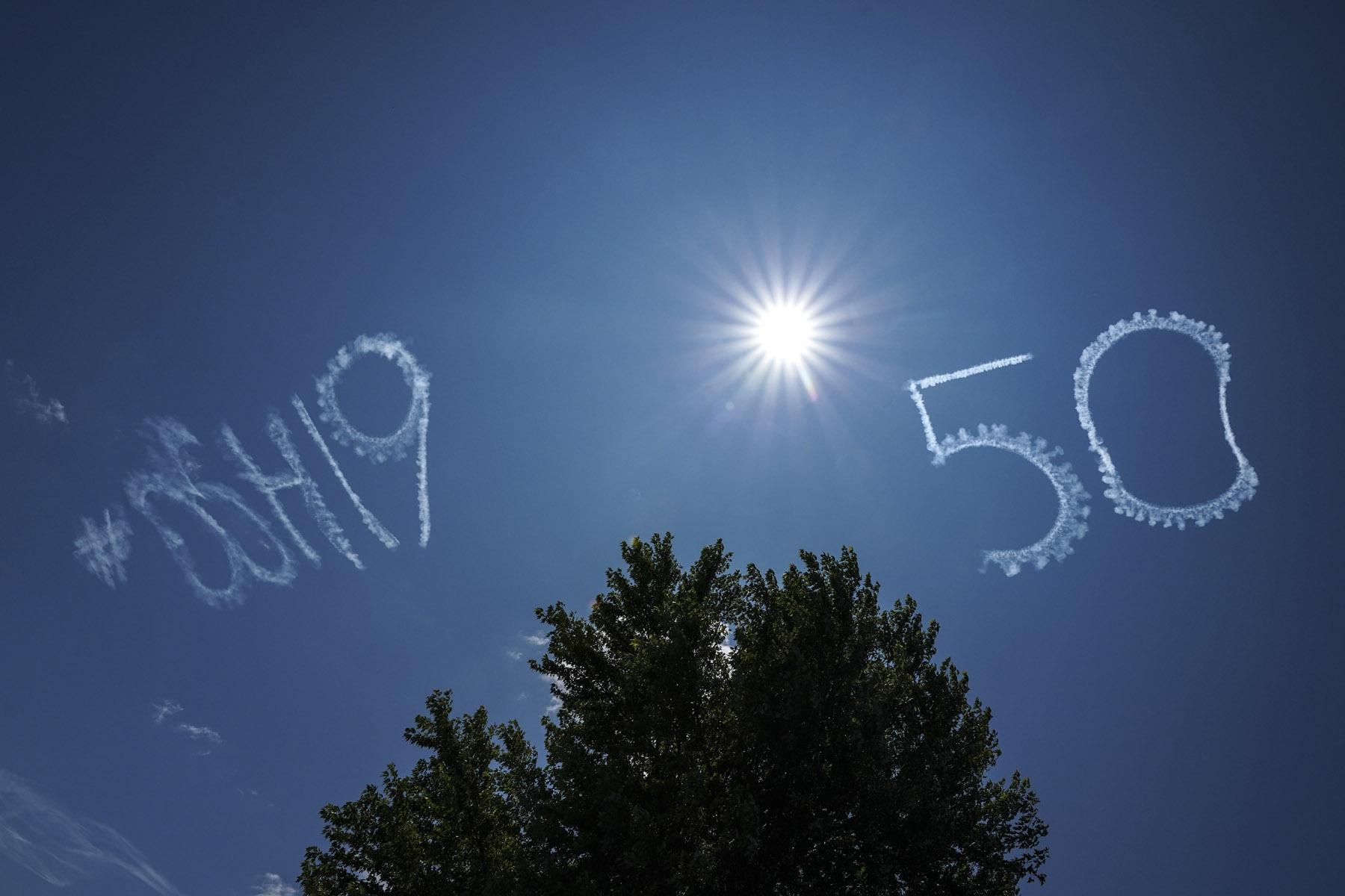 Sky Writing Salute